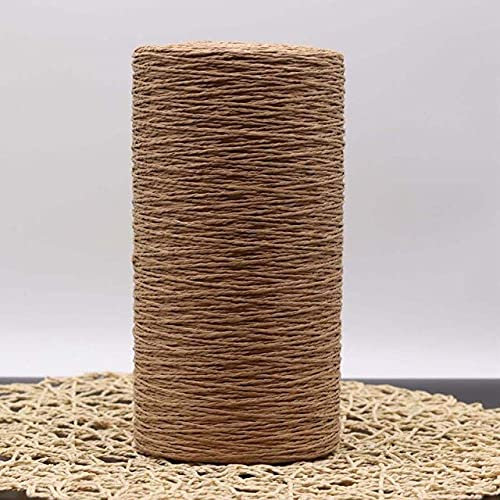 FEIZAI 500G rafia paja hilado hecho a mano del verano que hace punto sombrero empaqueta el hilado para el material de las artesanías