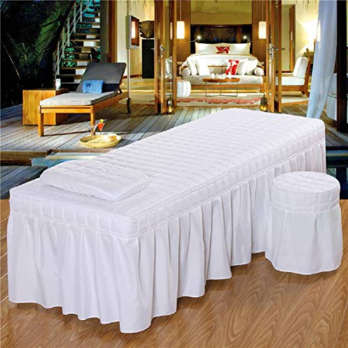 1 faldón de cama de 190 x 80 cm, solo para salón de belleza, masaje, sábana de cama, sábana de masaje, cubierta completa con falda