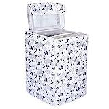 DALUCI Top Load Washing Machine Cover Suitable for LG/Samsung 6 kg, 6.2 Kg, 6.5 Kg, 7 Kg (Half White & Grey, 56X56X85)