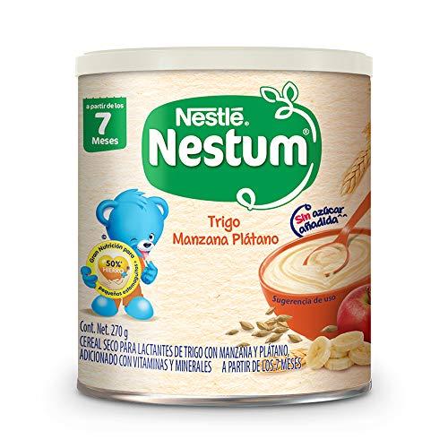 Nestum Alimento Infantil NESTUM Cereal 2da Etapa Trigo con manzana y plátano270 gr, Trigo con Manzana y Plátano, 270 gramos