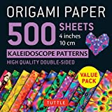 Origami Paper 500 Sheets Kaleidoscope Patterns 4 Inches 10 Cm: High-Quality Double-Sided...