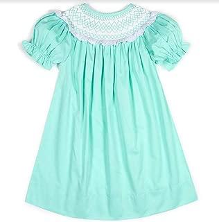 Girls Mint Green Smocked Neckline Float Dress 6m-6 Years Easter