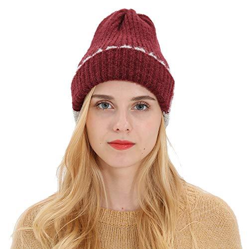 Frauen Männer Herbst Winter Beanie Hut Strickwolle Warme Hüte Ohrenschützer Hut