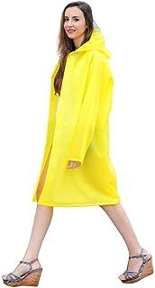 RYY Raincoats Rainwear, EVA Raincoat Portable Outdoor Travel Raincoat Waterproof Camping Poncho Plastic Rain Cover (Color ...