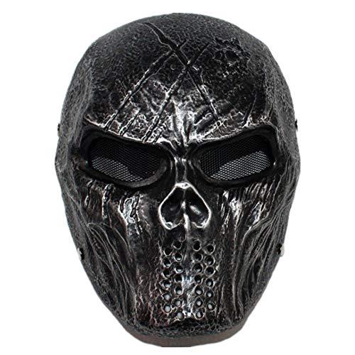 LIBWX Marauders Mask, Halloween Cosplay Mask Neue Maske Robber Killer Masquerade Masked Man Mask,Silber
