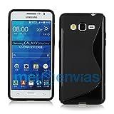 MELOENVIAS Funda para Samsung Galaxy Grand Prime G530H Gel TPU Diseño S-Line Color Negro