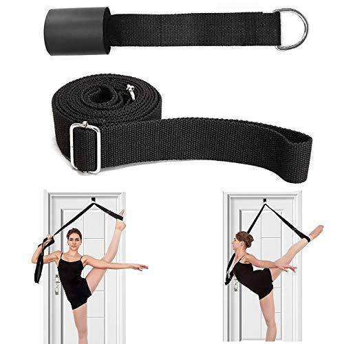 RAINBEAN Beinstrecker verstellbar verlängern Ballett-Stretchband Flexibilität Tür-Keilriemen für Cheer Gymnastics Taekwondo Dancers, Black