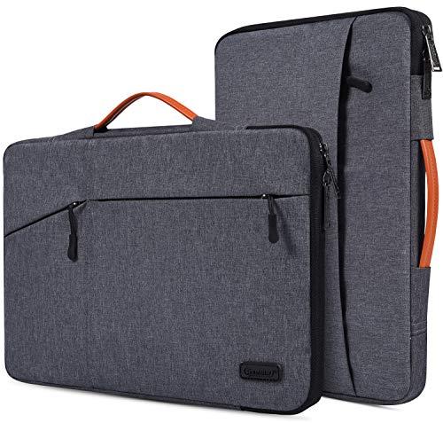 "14-15 Inch Water Resistant Laptop Sleeve Briefcase for Lenovo Flex 14, Acer Chromebook 14, HP Pavilion x360/EliteBook, Lenovo Yoga C940/920/C930, Flip Chromebook 14, 14"" Protective Notebook Bag"