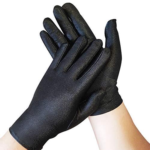 ZMYO 手袋黒 礼装 業務 ドライバー 式典用 運転手 フォーマル 警備 宝石用 ジュエリーグローブ 薄 品質管理用 ブラック 手ぶくろ 3双組