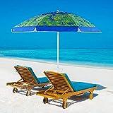 YATIO 7ft Beach Umbrella SPF/UPF100+, Beach Umbrellas for Sand Heavy Duty Wind with Sand Anchor Sand Screw, Tilt,...