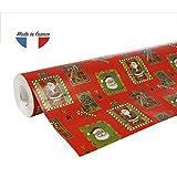 Clairefontaine 211302C Rouleau papier cadeau Alliance 60g 50x0,70m Motif Père Noël...