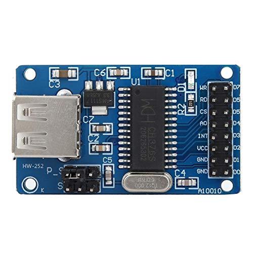 Kadimendium 1 Uds CH376S U Lectura y Escritura de Datos de Disco Interfaz Principal Módulo USB Módulo de Disco U Módulo Flash USB de 8 bits