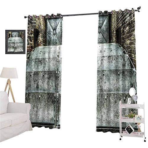 Industrial Decor Collection best home fashion thermal insulated blackout curtains Factory British Victorian Times old Fashioned Historic Heritage Recession Image Suitable forFit Window Curtain Assort