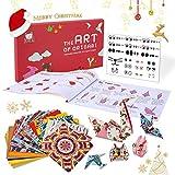 JoyCat Origami Papier Kit, 90 Blatt doppelseitiges Origami-Papier, Kaleidoskop, Japanische und tierische Muster, 30 Origami Projects Bastelanleitung für Einsteiger - Bastelstunden Schulen Training