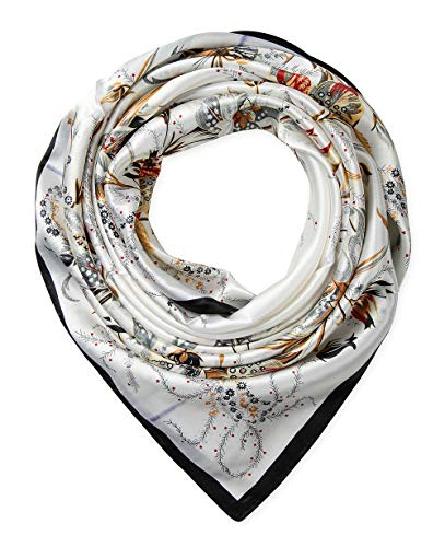 corciova 35″ Large Women's Satin Square Silk Feeling Hair Scarf Wrap Headscarf