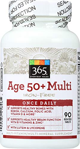 365 Everyday Value, Age 50+ Multi Iron-Free, 90 ct