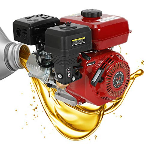 Motor de gasolina, 7,5 CV, 4 tiempos, 210 cm³, motor de kart, OHV, monocilíndrico, color morado