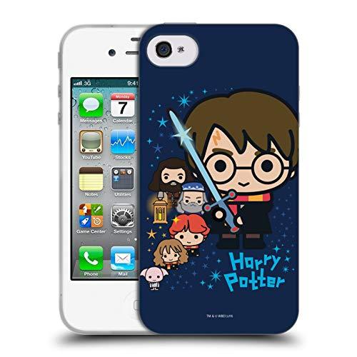 Head Case Designs Licenciado Oficialmente Harry Potter Personajes Deathly Hallows I Carcasa de Gel de Silicona Compatible con Apple iPhone 4 / iPhone 4S