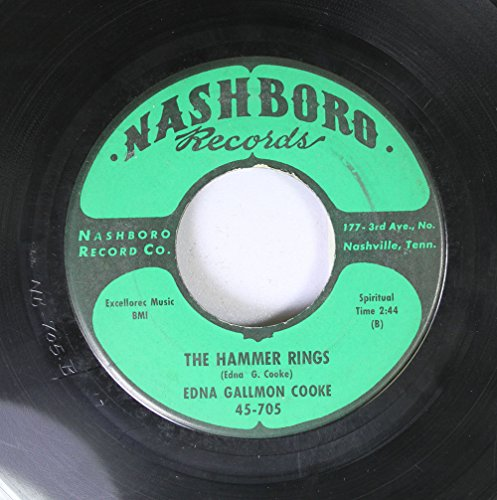 EDNA GALLMON COOKE 45 RPM The Hammer Rings / Stop Gambler