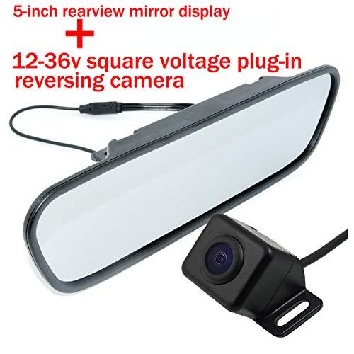 Caméra de recul de voiture caméra étanche 170 degrés grand angle de vision CMOS / CCD pour 5 pouces couleur TFT LCD affichage à cristaux liquides de stationnement haute définition écran de moniteur