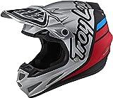 Troy Lee Designs SE4 Composite Motocrossv Casco Silhouette - Plata/Negro (M)