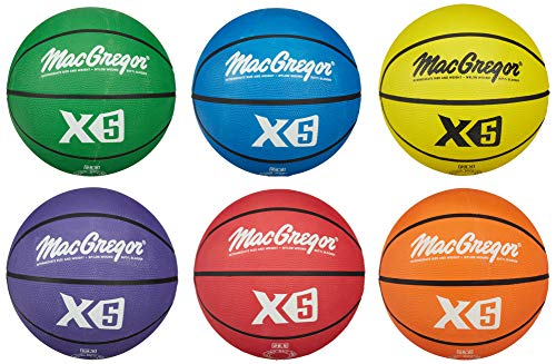 "MacGregor Multicolor Basketballs (Set of 6) - Official Size (29.5"")"