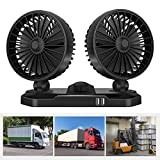 Q-YR Ventilador del Vehículo Multifuncional Solo Cabezal De Doble Cabezal 12V 24V Camión De Aire Acondicionado De Refrigeración del Ventilador Eléctrico,2,24v