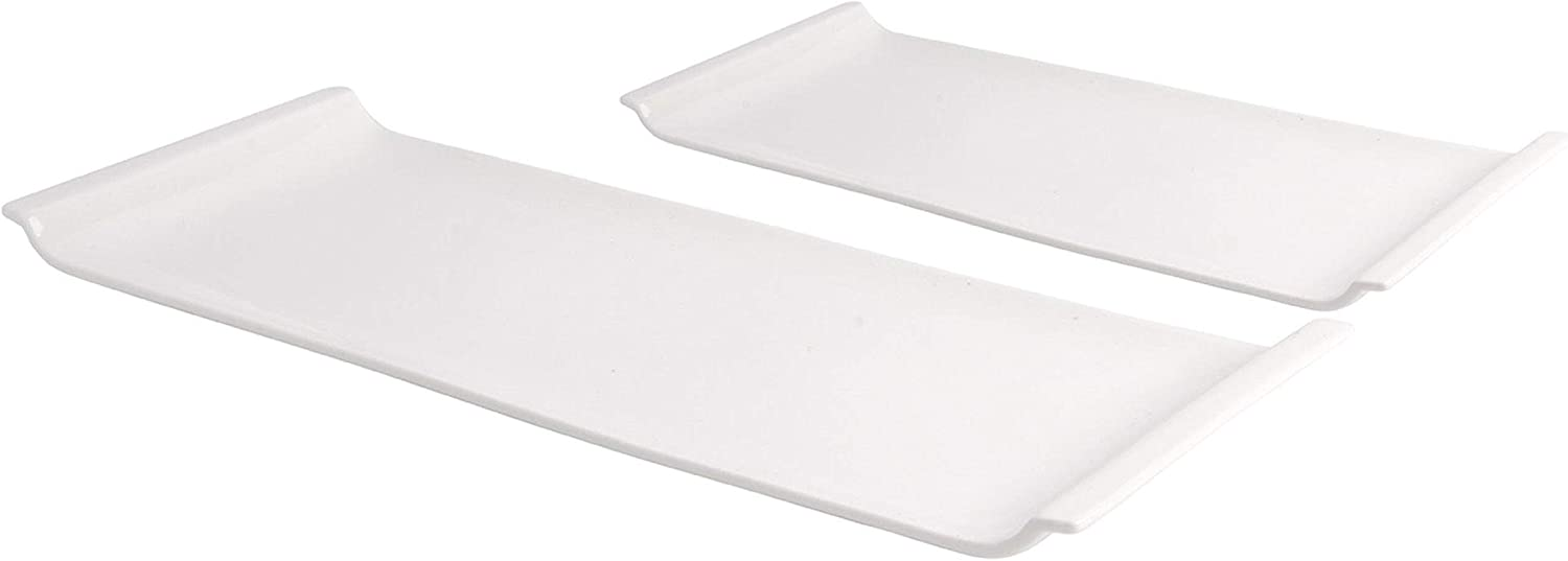 Home Essentials 15030 Smooth White Set Platter Max 51% OFF Miami Mall Rectangle 2 of