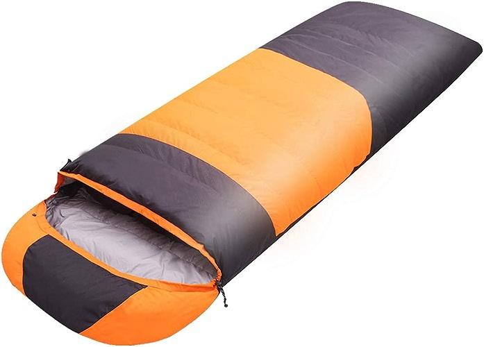 CXLIN Le Sac de Couchage en Duvet extérieur épaissi de Canard Chaud Convient pour Le Sac de Couchage de Camping Portable intérieur Unique,jaune