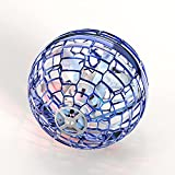 FLYNOVA PRO Flying Ball Toy, Boomerang Hand Controlled Mini Drone,Cool Flying Spinner,Magic Flying Orb with 360° Rotating Built-in RGB LED Lights for Kids Adults Indoor Outdoor Fun - Blue