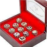 Set of 11 St. Louis 'Cardinals World 'Series Championship Rings 1926-2011 Cardinals Championship Rings Display Case Box Fans Gift