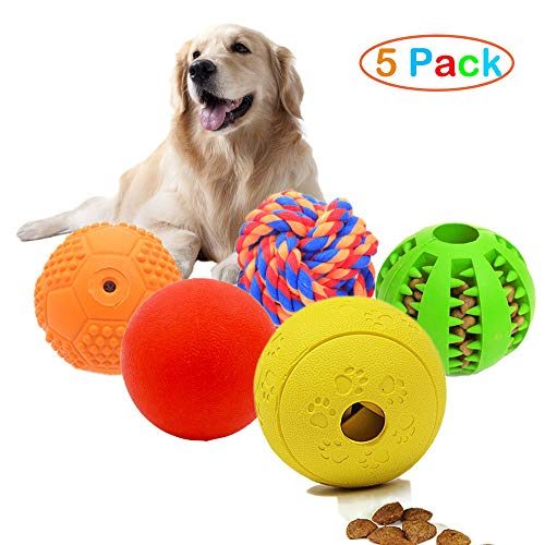 Vocalopets 5 Different Functions Interactive Dog Toys,Dog Puzzle Toys Treat Ball for Small
