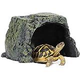 YiGanQiang Caja de Refugio de Reptil de Regalo romántico, Gecko araña Refugio Cuevas Cuevas Tortuga terraza, Tortugas lagartas pitones esféricos para bartagons (Color : Natural)