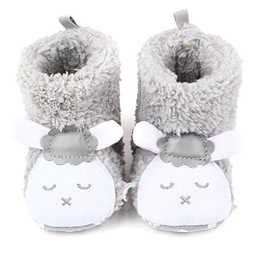 TININNA Bébé Mignonne Animal Démarrage Hiver Chaud Peluche Démarrage Nouveau née Bambin Doux Unique Lit de Bébé Chaussures Anti Caleçon Chaussures Prewalker Gris #14