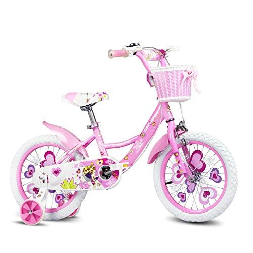 Xiaoping Kinderfahrrad, 3-8 Jahre altes Mädchen Fahrrad, Pink (Size : 16 inch)