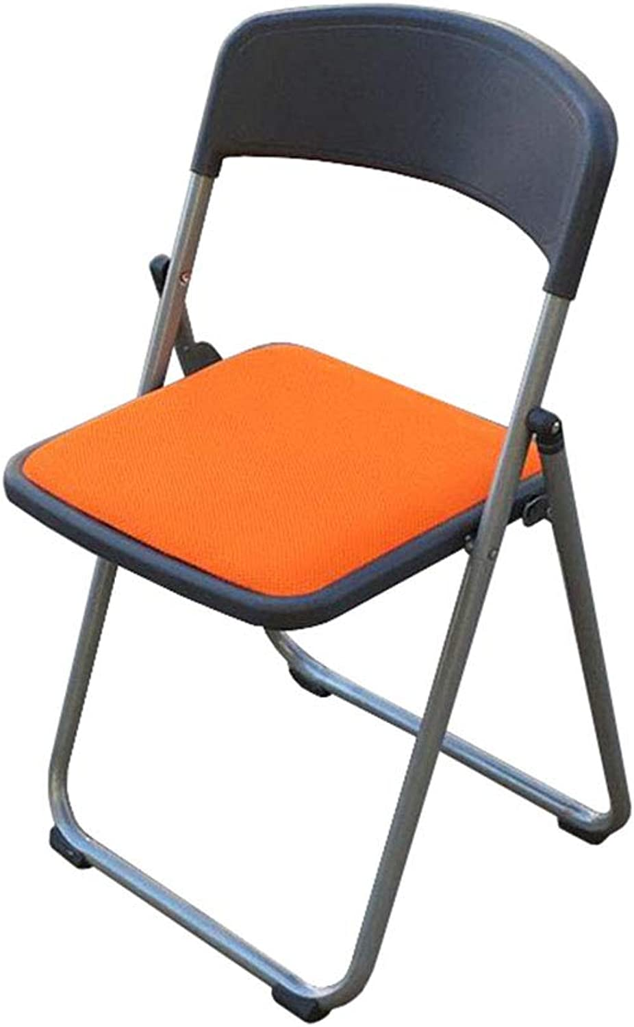 Folding Chair Office Meeting Reception Chair Stool Training orange Mesh Padded