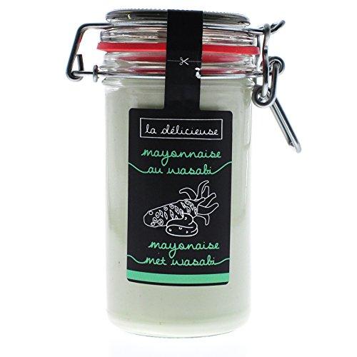 La Délicieuse super leckere Premium Delikatess-Mayonnaise aus belgischem Familienunternehmen (Wasabi, 250 ml)