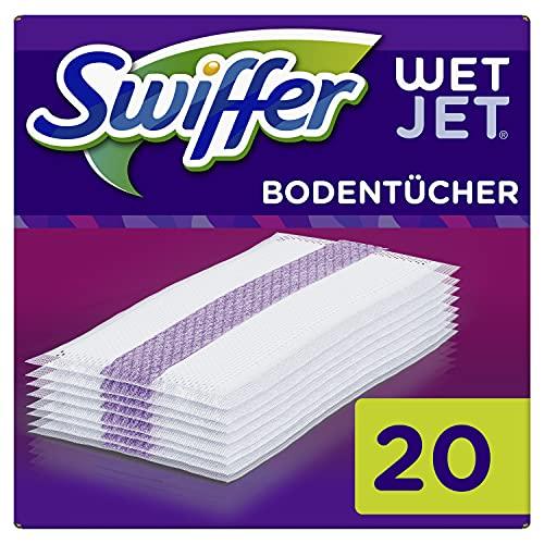 Swiffer WetJet Bodenwischer Wischtücher (20 Tücher) Nachfüllpack für WetJet All-in-1 Wischer für fast jeden Boden