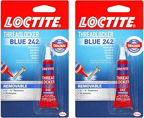 Loctite Heavy Duty Threadlocker, 0.2 oz, Blue 242, Single 2 Count