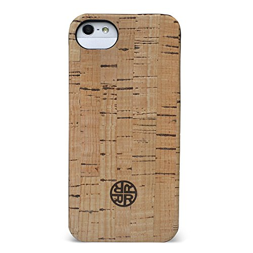 Cork Wood Case Compatible with iPhone SE | 5 | 5s - Natural Wooden Shell (Classic Cork)