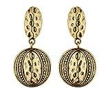 Boucles d'oreilles clips - Design aztèque plaqué or antique - Brasen G par Bello London