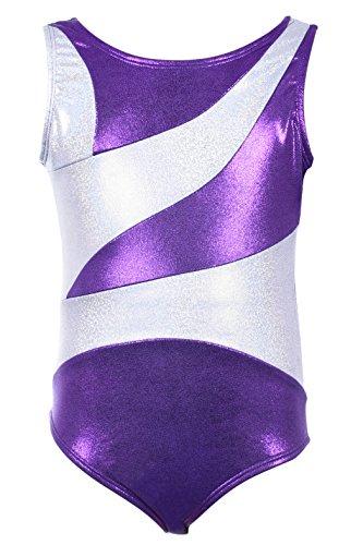 Dancina - Maillots de Gimnasia Leotardo para Niña 12-13 años Gem Purple