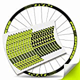 Kit Pegatinas Bicicleta Stickers LLANTA Rim Progress DYN 29' MTB BTT B (Amarillo Fluor)