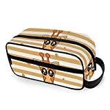 Cartoon Cute Giraffe Travel Bag for Toiletries with Zippers Toiletries Bag Carry-on Travel Accessories Travel Bag for Toiletries for Men and Women Travel Bag for Toiletries for Toiletri