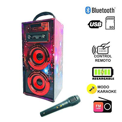 Altavoz Karaoke Micrófono 35W Reproductor Radio inalámbrico