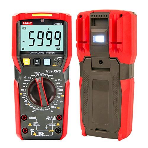 UNI-T UT89XD True RMS 6000 Counts LED digital multimeter test ac dc Voltmeter Ammeter Capacitance Frequency Resistance test...