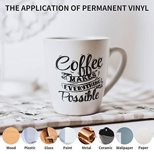 Prime Vinyl Black Permanent Vinyl Roll - 12