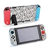 SUPNON Switch Case Compatible with Nintendo Switch Games Protective Hard Carrying Cover Case for Nintendo Switch Console Joy Con Controlle - Birch Branches with Catkins Pattern Background Design27236