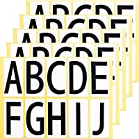 ユポ A~J アルファベット ローマ字 シール ステッカー 33KAJ5 大きい ラベル PP加工 防水 耐候性 屋外 ABCDEFGHIJのみ 【33×66mm/片】A~Jの10種各1片×5シート 33KAJ5