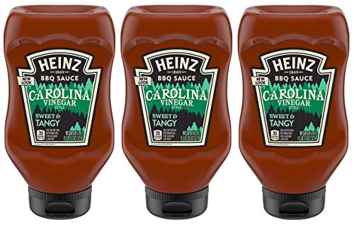 Heinz BBQ Sauce - Carolina Vinegar Style - Sweet & Tangy - Net Wt. 18.6 OZ (527 g) Per Bottle - Pack of 3 Bottles
